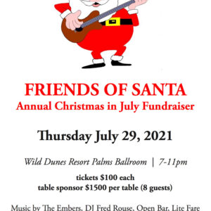 Annual Christmas in July Fundraiser – Table Sponsor $1,500